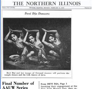 Dewi Dja menjadi berita di surat kabar Amerika