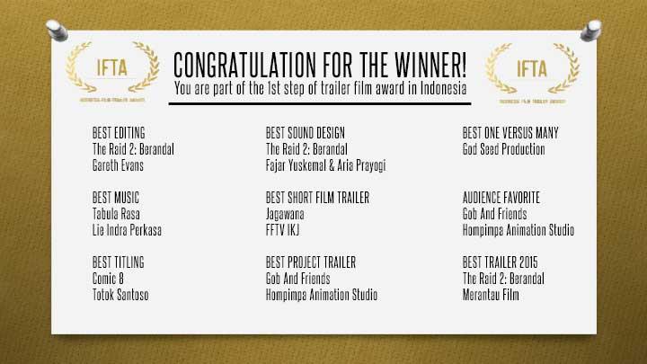 Daftar Pemenang IFTA 2015