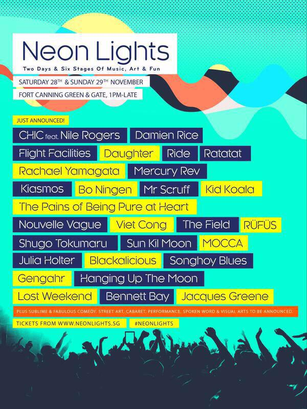 Official Poster, Singapore Neon Lights Festival 2015