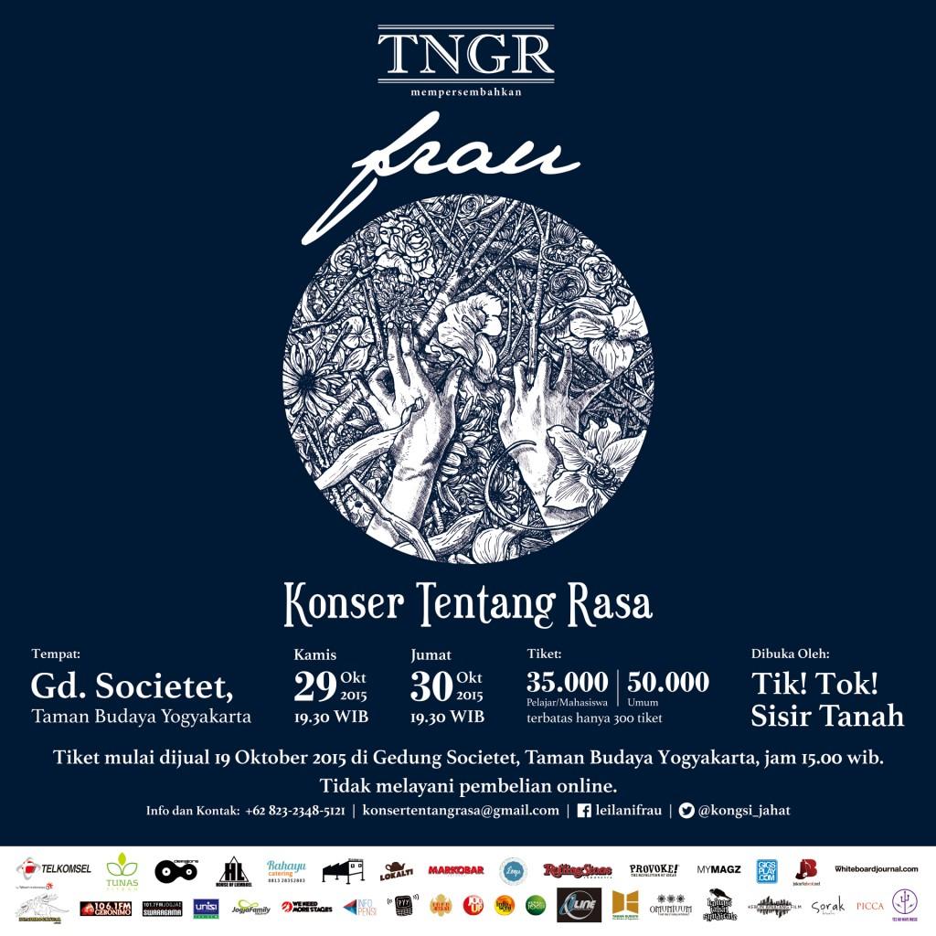 """Official poster """"Konser Tentang Rasa"""" Frau, 19 Oktober 2015"""