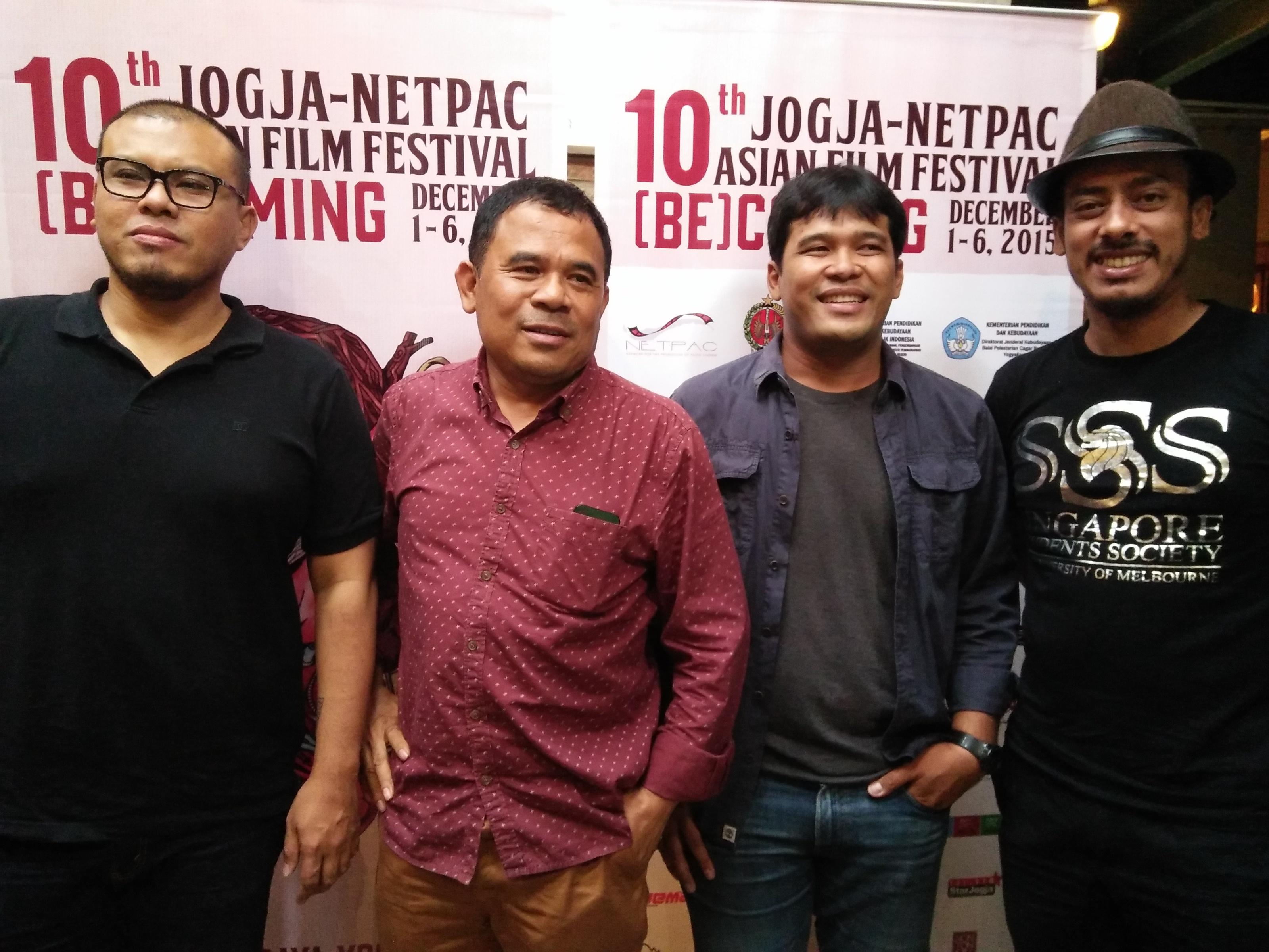 Dari Kiri ke kanan: Joko Anwar, Garin Nugroho, Ifa Isfansyah dan Ismail Basbeth (sumber: Panitia JAFF ke-10)