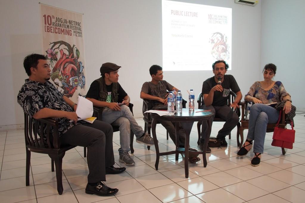 Public Lecture tentang Yogyakarta Cinema(sumber: Doc 10th JAFF).
