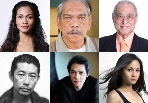 Para bintang utama dalam Proyek Omnibus Asian Three Fold Mirror, dari kiri atas searah jarum jam:  Chumvan Sodhacivy (Kamboja/Aktris), Lou Veloso (Filipina/Aktor), Masahiko Tsugawa (Jepang/Aktor), Masathosi Nagase (Jepang/Aktor), Masaya Kato (Jepang/Aktor), Sharifah Amani (Malaysia/Aktris)