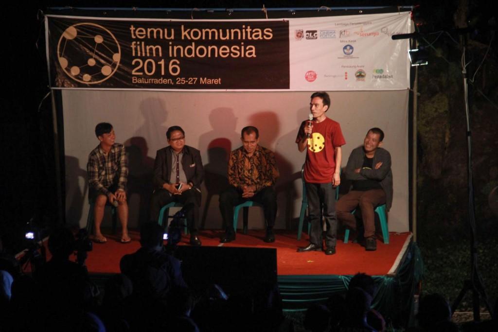 #TKFI2016 Presentasi publik tentang kondisi perfilman nasional bersama Maman Wijaya (Pusbang Film Kemendikbud)
