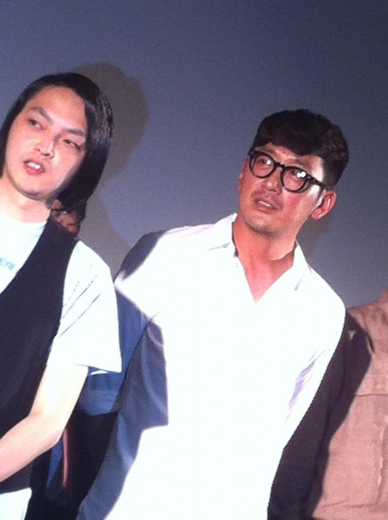 Ha Jung-Woo, saat menghadiri pemutaran filmnya 'Chronicle of a Blood Merchant' (허삼관) dalam segmen Special Invitation di OIMF Ke-8, 2016.