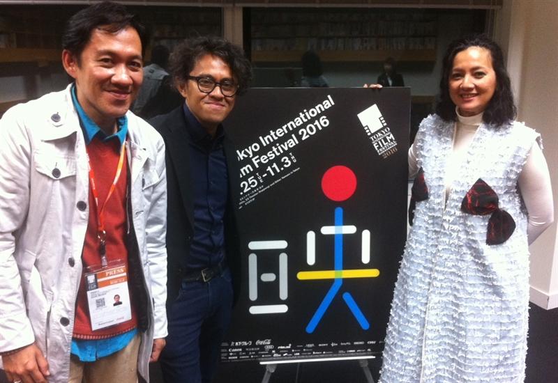 Daniel Irawan, Riri Riza dan Cut Mini bertemu di acara Tokyo International Film Festival ke 29 yang lalu.