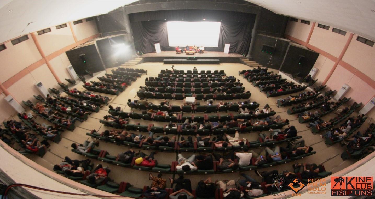 Suasana Pesta Film Solo#6 tahun 2016 yang diselenggarakan di Teater Tertutup TBJT Surakarta.
